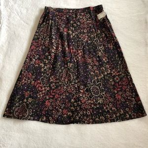 D'Allaird's Floral A Line Panel Skirt Size 18